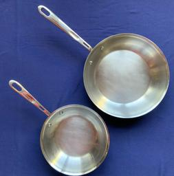 """2 Emeril All Clad Stainless Steel Copper Core Skillet 8"""" / 1"""