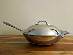 """ALL-CLAD Copper Core 5-ply Bonded Cookware, 12"""" Chef's Pan,"""