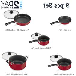 Kitchen Pans Set With Lids Cooking Utensils Cookware Accesso