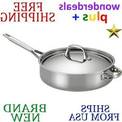 *New* ANOLON Tri-Ply Clad Stainless Steel 5qt Covered SAUTE