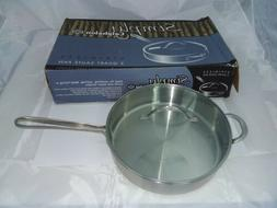 Calphalon Simply Stainless 5 Qt Saute Pan Glass Lid I5005S
