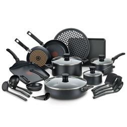 T-fal Kitchen Solutions 22-Piece Nonstick Cookware Set, Ther