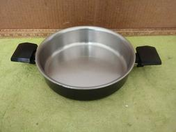 VTG Miracle Maid by West Bend 2qt Gem Anodized Stainless Sau
