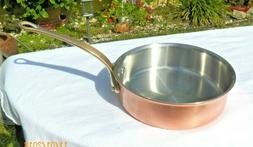 """MAUVIEL WILLIAMS SONOMA 8 3/8"""" COPPER STAINLESS SAUTE PAN 2."""